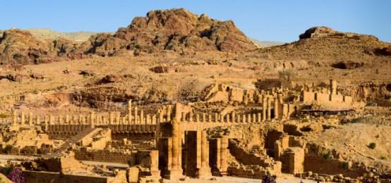 The city of Ancient Petra, Jordan